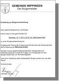 Einladung zur Bürgerversammlung am 19.11.13