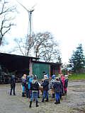 Exkursion der Grundschule zur Windkraftanlage Pieper
