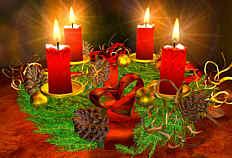 Adventskranz am vierten Advent