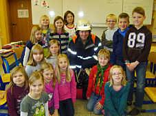 Die Feuerwehr in der Grundschule