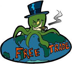 Krake Freier handel /Zur Unterschriftensammlung von Campact gegen TTIP