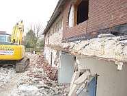 Abbruch der Wippinger Mehrzweckhalle