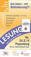 Flyer zur Veranstaltung in Papenburg