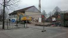 Mehrzweckhalle mit vollständigem Hallenmauerwerk