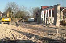 Mehrzweckhalle mit BNodenplatte und Stahlbetonkonstruktion