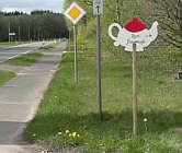 Hinweisschild zum Bauerncafé