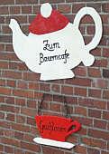 """Schild am Bauerncafé """"Geschlossen"""""""