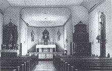 Innenraum der Wippinger Kirche 1954, Foto aus der Wippinger Chronik