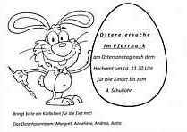 Flyer zur Ostereiersuche