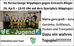 Flyer zum E-Jugendspiel am 26. April 2014