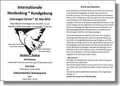 Flyer zur Kundgebung am 10. Mai auf dem Friedhof Esterwegen zum Tag der Befreiung