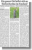 Einbrecherjagd in Wippingen, Ems-Zeitung vom 13.06.2014