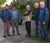 v. l.: Josef Stein, Hermann Ganseforth, Dirk Dijkstra, Heinz Hempen, Willi Deters
