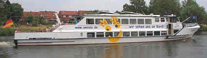 Fahrgastschiff Amisia, Foto: Amisia Fahrgastschiffahrtsgesellschaft mbH & Co. KG