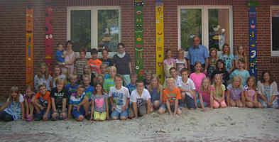 Schülerinnen und Schüler der Klassen 3 und 4 an der Grundschule Renkenberge-Wippingen