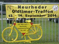 Werbung für Oldtimertreffen in Neurhede