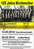 Flyer zum Jubiläum des Kirchenchors