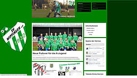Screenshot der Homepage des SV Wippingen