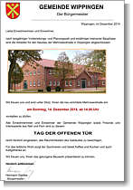 Tag der Offenen Tür in der Mehrzweckhalle Wippingen - Einladung-