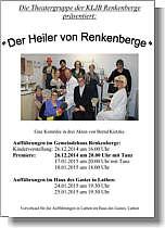 Einladung zur Theatervorstellung in Renkenberge