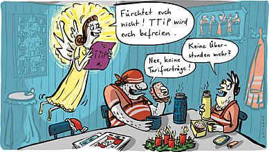 Karikatur aus Publik 08/2014