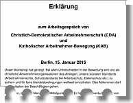Erklärung von KAB und CDA zu TTIP