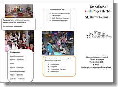 Info-Flyer des Kindergartens Wippingen