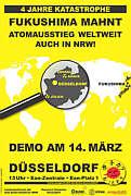 Plakat von ausgestrahlt zur Demo in Düsseldorf