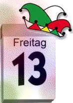 Kalender Freitag, der 13.