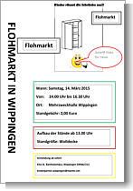 Flyer des Kindergartens zum Flohmarkt