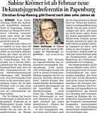 Sabine Krömer - Ems-Zeitung vom 31.01.2015