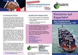 Flyer zu TTIP vom Umweltinstitut München