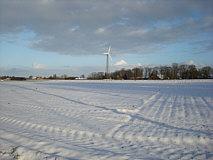 Piepers Windkraftanlage im Januar 2015