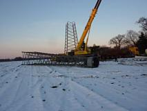 Abbau von Piepers Windkraftanlage im Januar 2015