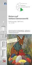 Flyer mit Osterprogramm des Emslandmuseums Schloss Clemenswerth