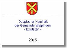Zur Präsentation Eckdaten des Wippinger Haushaltes