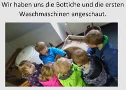 Präsentation über den Museumsbesuch des Kindergartens