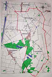 Karte Wippingen mit Grenzverlauf