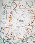 Karte Altkreise mit Grenzverlauf