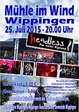 Plakat Headless-Konzert in Wippingen am 25. Juli