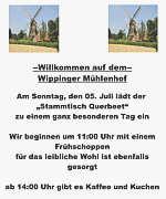 """Flyer des """"Stammtisch Querbeet"""""""