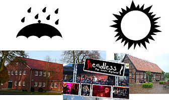 Headless: bei regen Mehrzweckhalle, bei Sonne Heimathof draußen