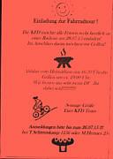 Flyer des KFD zur Fahrradtour