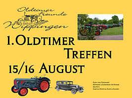 Plakat zum Oldtimertreffen in Wippingen
