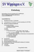 Einladung zur Generalversammlung des SV Wippingen