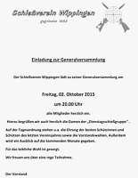 Einladung zur Generalversammlung