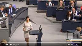 Sahra Wagenknecht im Bundestag am 15.10.2015