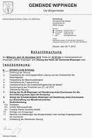Einladung zur Ratssitzung am 18.11.2015