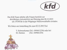 Flyer des KFD
