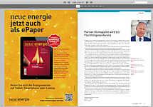 """zur Novemberausgabe der """"Neue Energie"""""""